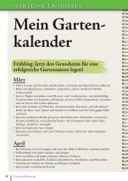 Mein Garten- kalender - Land & Genuss