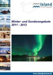 Winter- und Sonderangebote 2011 - 2012 - Island ProTravel