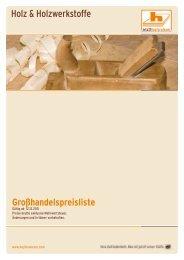 Holz & Holzwerkstoffe Großhandelspreisliste - Hopferwieser AG