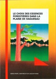 FORESTIERES DANS LA PLAINE DE HAGUENAU : - Centres ...