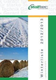 RaifTec - Winterliste 2012_12 Seiten.indd - AGRAVIS Technik ...