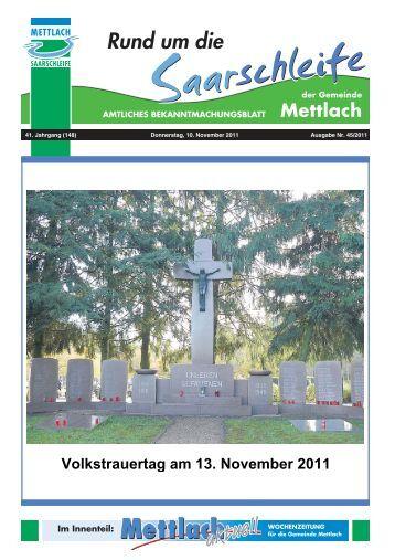 bis spätestens 30.11.2011 - Gemeinde Mettlach