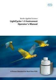 LightCycler 1.5 Instrument Operator's Manual