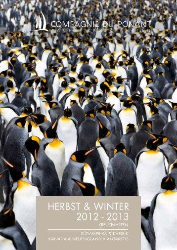 HERbST & wiNTER 2012 - 2013 - Compagnie du Ponant