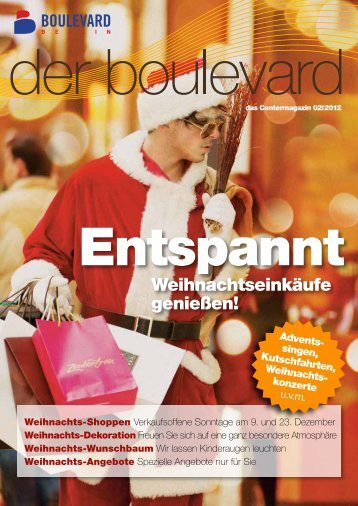 Weihnachtseinkäufe genießen! - Boulevard Berlin