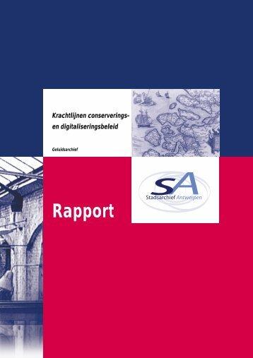 Rapport Krachtlijnen conserverings- en digitaliseringsbeleid