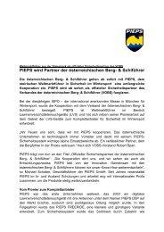PIEPS wird Partner der österreichischen Berg- & Schiführer