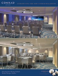Meetings & Events - Conrad Hotels & Resorts