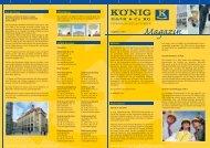 Kundenmagazin Ausgabe 1 2011 - KÖNIG GmbH & Co KG