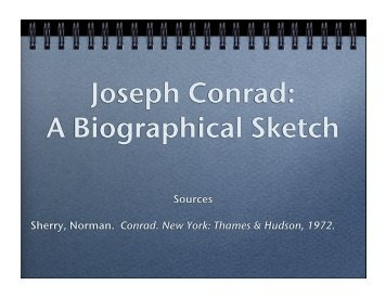 Joseph Conrad: A Biographical Sketch