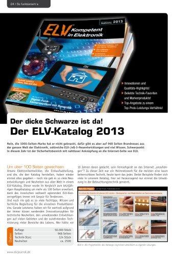 Der ELV-Katalog 2013
