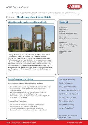 ABUS Security-Center Referenz   Absicherung eines 6-Sterne-Hotels