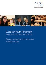 european youth parliament motion for a resolution