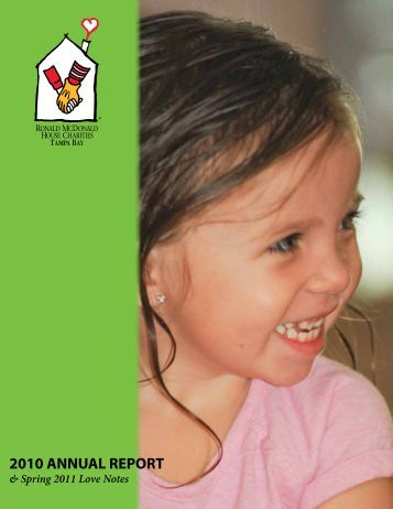 2010 annual report - Ronald McDonald House Charities of Tampa Bay