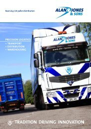 TradiTion driving innovaTion - Alan R Jones & Sons