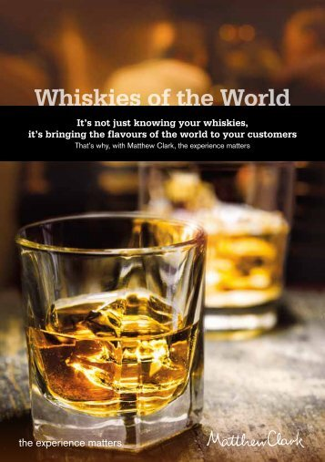 Whiskies of the World brochure - Matthew Clark