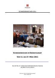 2011 Schwedenwoche deutsch - Hotel Seeburg