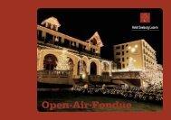 Speisekarte Open-Air-Fondue - Hotel Seeburg