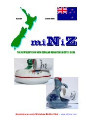 THE NEWSLETTER OF NEW ZEALAND - Miniature Bottle Library