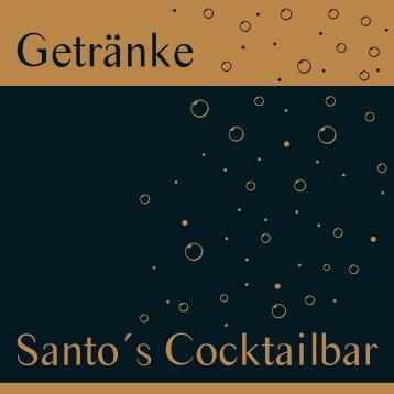 Getränkekarte - Hotel Santo Cocktailbar