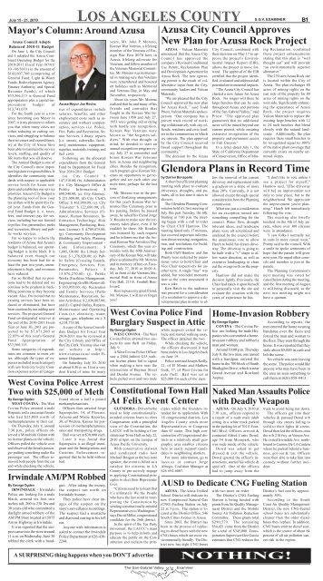 July 21, 2010 - San Gabriel Valley Examiner