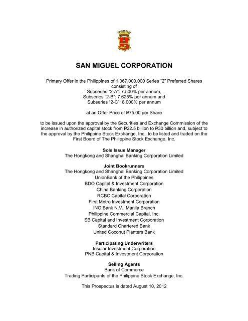 "2"" Preferred Shares - San Miguel Corporation"