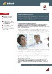 Se brochure på Xellent Kundeserviceoversigt (pdf) - EG A/S