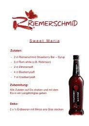 Zutaten: Zubereitung: Deko - Riemerschmid