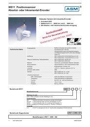 WS11 Positionssensor Absolut- oder Inkremental ... - ASM GmbH