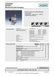 POSIWIRE® WS19KT Absolut-Encoder-Ausgang - ASM GmbH