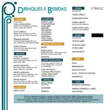 DRINQUES E BEBIDAS - Miranda Brasil