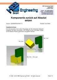 Komponente zurück auf Absolut setzen - HBB Engineering GmbH