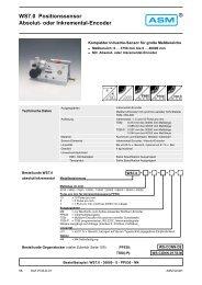 WS7.0 Positionssensor Absolut- oder Inkremental ... - ASM GmbH