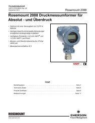 Rosemount 2088 Druckmessumformer für Absolut - Emerson ...