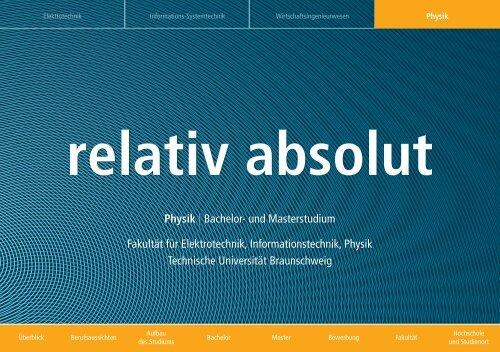 relativ absolut - Technische Universität Braunschweig