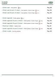 Cilindri ovali ( 6 perni, 3 chiavi ) - Rora Distribuzioni