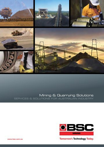 BSC Mining & Quarrying Solutions Catalogue