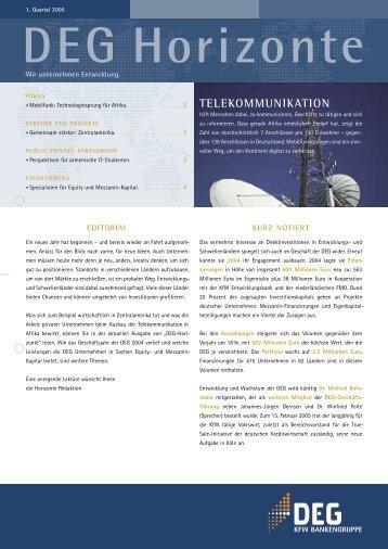 TELEKOMMUNIKATION - DEG