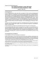 der Telekommunikation Lindau (B) GmbH für Glasfaser-Produkte ...