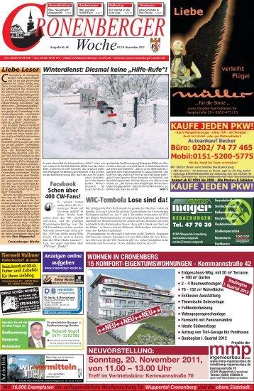 Sonntag, 20. November 2011, von 11.00 – 13.00 Uhr Treff im ...