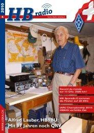 Alfred Lauber, HB9BU: Mit 97 Jahren noch QRV - USKA