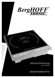 Gebrauchsanleitung INDUKTIONSPLATTE - Berghoff