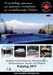 Gesamtkatalog CSC Deutschland 2011 EMail.qxp - Canadian Spa ...