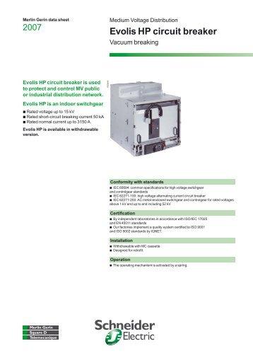 evolis hp circuit breaker schneider electric rh yumpu com Schneider Electric Controls Schneider Electric Controls