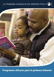 Programas eficaces para la primera infancia - Bernard van Leer ...