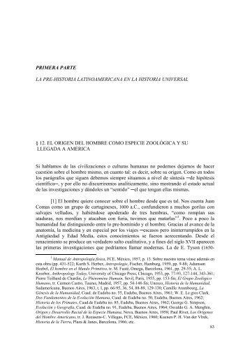 primera parte: la pre-historia latinoamericana en la historia universal