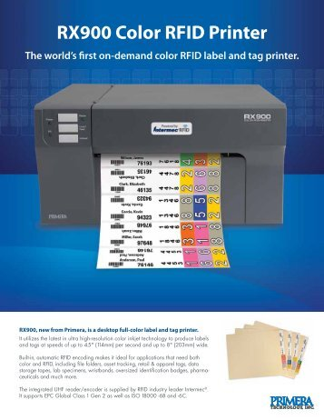 RX900 Color RFID Printer The world's first on ... - Label Printers
