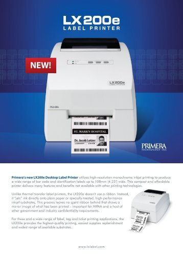 LX200/LX200e Label Printer