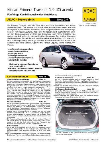 Nissan Primera Traveller 1.9 dCi acenta - ADAC