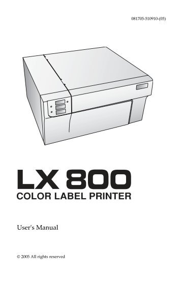 LX800 Manual - Label Printers